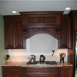 Unfinished Solid Wood Bookcases Wood Range Hoods M Series Arched Valance Mantle Style