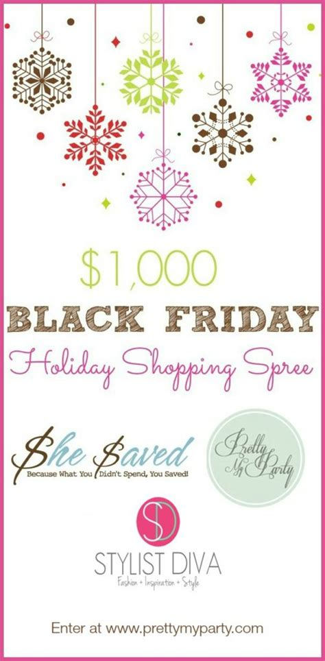 Black Friday Giveaway - 1000 black friday shopping spree giveaway