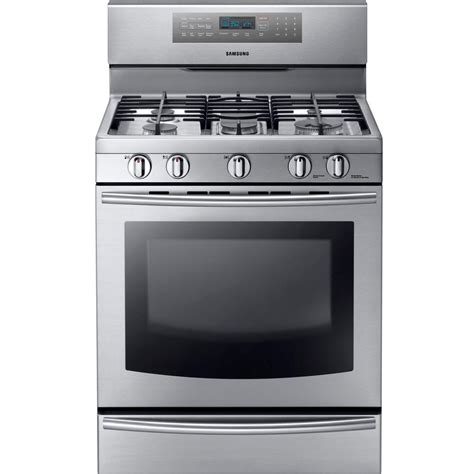 Oven Gas Stainless Steel samsung 30 in 5 8 cu ft gas range with self cleaning
