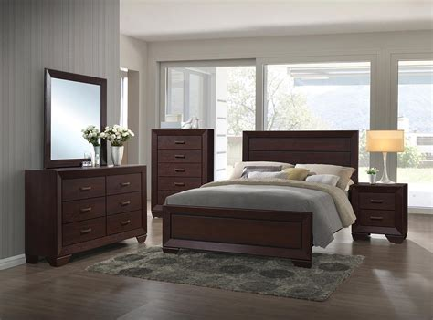coaster bedroom furniture coaster fenbrook bedroom set dark cocoa 204391 bedroom