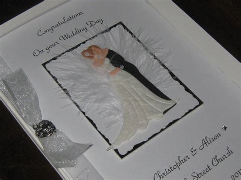 Handmade Wedding Cards Uk - personalised handmade wedding card luxury boxed ebay