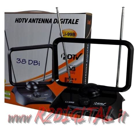 antenna interna per digitale terrestre antenna tv dvb t uhf 38 db digitale terrestre lificata