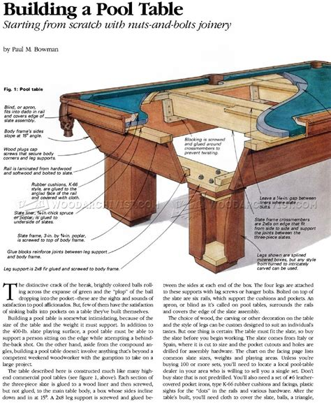 how is a pool table build pool table woodarchivist