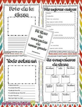 libro target grade 5 writing memory book in spanish for third grade libro de recuerdos spanish dual language dual