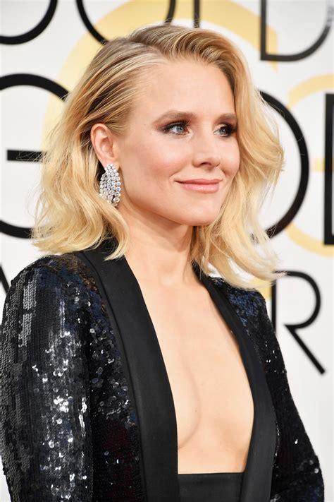 Get Look Kristen Bells Behnaz Sarafpour Dress 2 by Kristen Bell Wore Pads To The 2017 Golden Globes