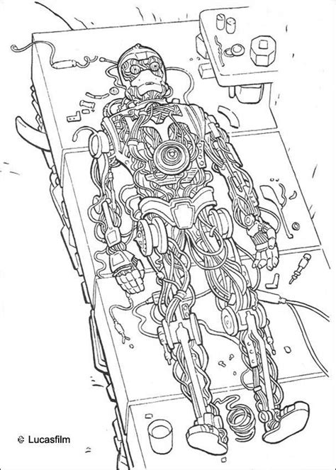C 3po Coloring Pages by Robot C 3po Coloring Pages Hellokids