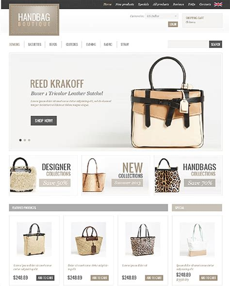 zencart templates top 15 zen cart templates for handbags stores