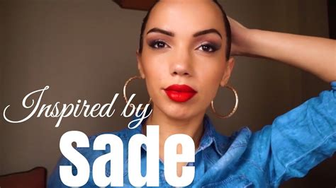 sade adu hairstyle iconic style sade inspired makeup hair look youtube