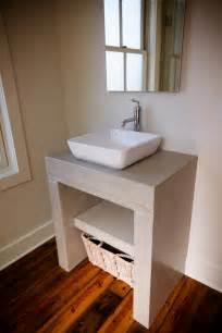 gorgeous concrete bathroom vanity on concrete vanity