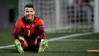 Cristiano ronaldo smiling in portugal jersey wallpaper cristiano