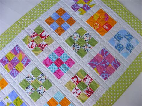 Patch Quilt by Blimunda Quilts Nine Patch Baby Quilt Number Three