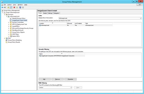 Section Security by Informa Software Install Imagequest Client Via