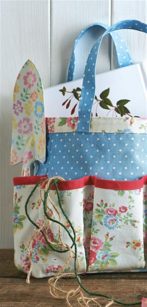 sewing pattern garden tool bag cath kidston fabric gardening tool caddy and knee rest