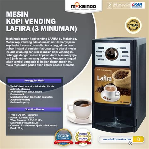 Mesin Coffee Vending jual mesin kopi vending lafira 3 minuman di bandung