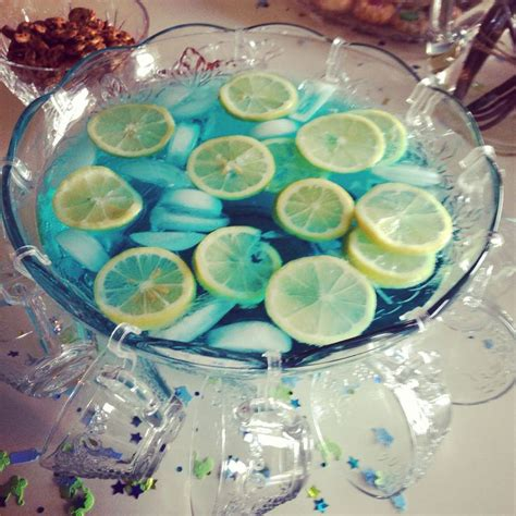 Baby Shower Blue Punch by Boy Baby Shower Punch Blue Kool Aid With 7up And Lemons