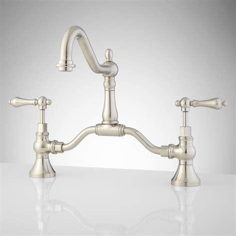 antique bridge faucet signaturehardware com antique brass sink faucet signaturehardware com