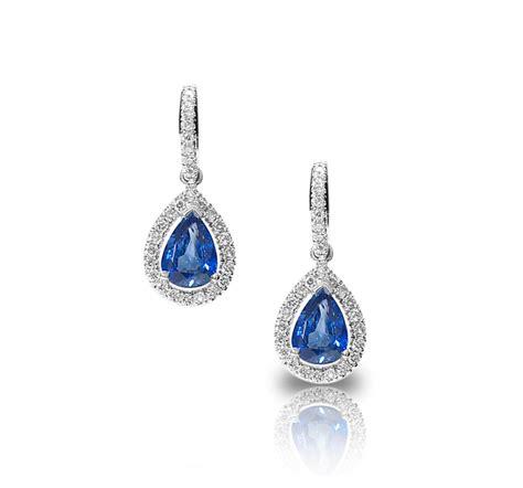 Shaped Drop Earring pear shaped and sapphire drop earrings honour co