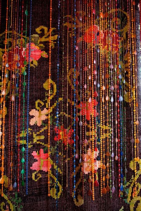 beaded curtain bohemian