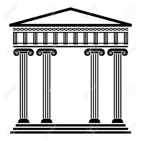 Column L by Vector Ancient Architecture With Columns Royalty Free Vekt 246 Rel Yunan Roma