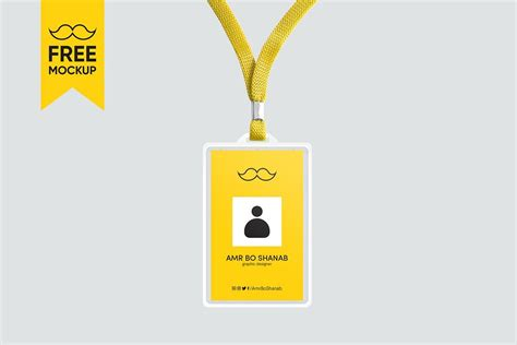 Identity Card Template Psd Free by Free Id Card Mockup Psd Template Creativetacos