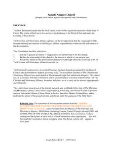 church bylaws template best photos of exle of organization bylaws non profit