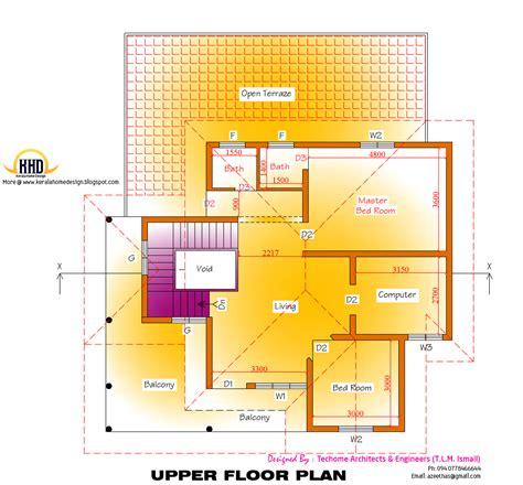 kerala home design first floor plan 2d elevation and floor plan of 2633 sq feet kerala house