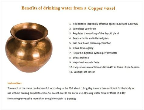 room temperature water benefits benefits of water from a copper vessel health benefits of copper copper