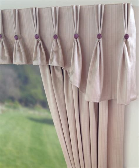 Valance Curtains Shaped Pinch Pleat Curtain Valance With Buttons C U R T
