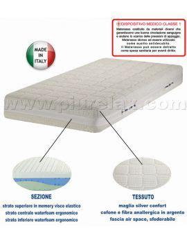 materasso memory silver materasso in memory dispositivo medico silver confort