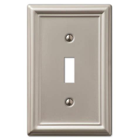 brushed nickel light switch covers decorative wall switch outlet cover plates brushed nickel