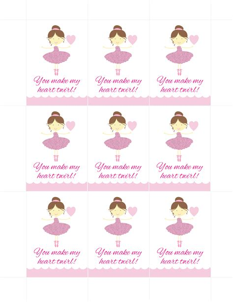 printable dance tags ballerina party ideas free printables catch my party