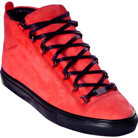 balenciaga mens sneaker balenciaga nubuck high sneaker in for gunmetal lyst