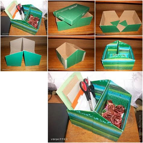shoe box diy how to make shoe box organizer step by step diy tutorial