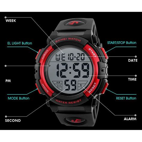Digitec 5 Pilihan Warna Jam Tangan Sport Pria Digitec Dg Time skmei jam tangan sporty pria dg1258 black blue jakartanotebook