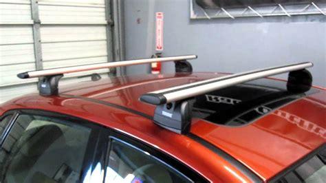Subaru Impreza Roof Rack Installation by Subaru Impreza Sedan With Thule 460r Podium Aeroblade Roof