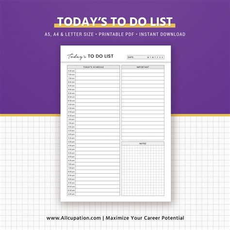 daily planner template a5 daily planner daily schedule to do list printable