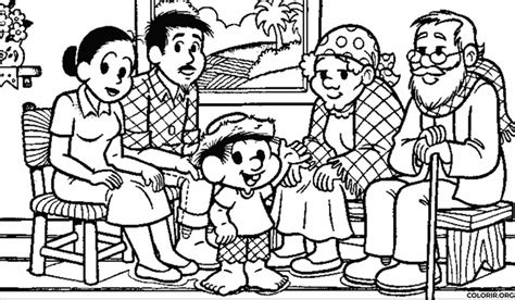 imagenes sobre la familia para pintar fam 237 lia do chico bento para colorir colorir org
