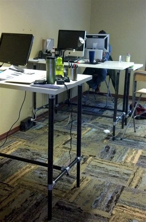 Simple Standing Desk by 37 Diy Standing Desks Built With Pipe And Kee Kl