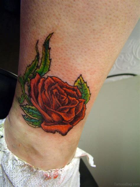 rose tattoo on ankle 41good looking tattoos for ankle