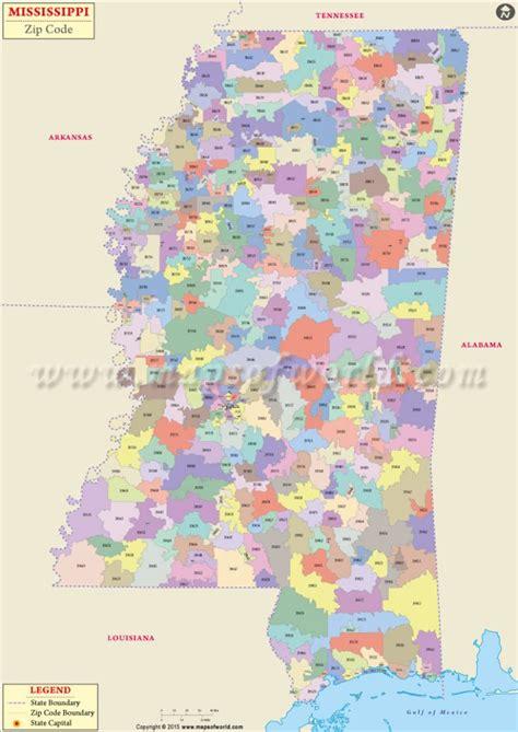 buy mississippi zip code map