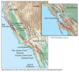 san andreas california map san andreas fault map by tasa graphic artists map
