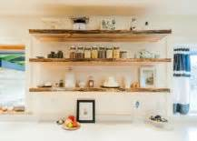 open shelving in a bright kitchen decoist 20 rustic kitchen shelving ideas with timeless rugged charm