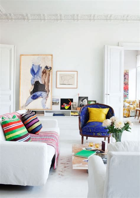 Painting Living Room White by Decorating Ideas 12 White Rooms With Pops Of Color