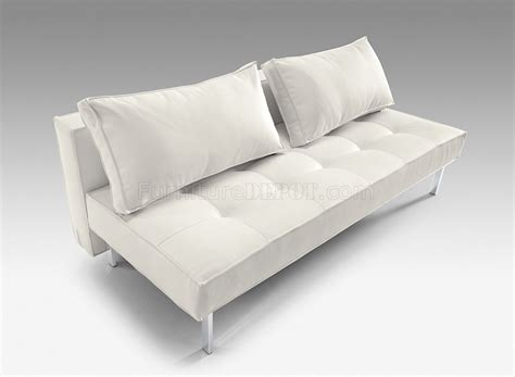 full sofa bed white or black full leatherette modern convertible sofa bed