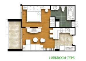Bed Floor Plan by Tira Tiraa 1 Bedroom Floor Plan