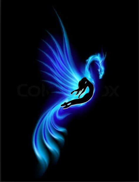 phoenix tattoo with background blue phoenix tattoo good stuff pinterest curves new