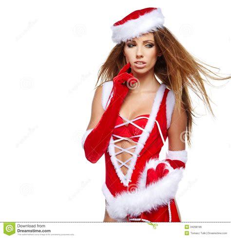 girl with christmas gifts stock photo image of season