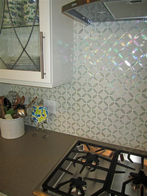 glass mosaic tile kitchen backsplash photos hgtv