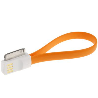 Taff Retractable Charging Sync Data Cable For Iphone 44s 80cm taff color noodle bracelet style magnet charging sync data cable for iphone 4 4s orange