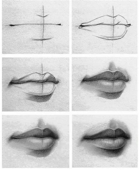 pattern on how to sketch face tutorial of drawing lips check it out if you re having